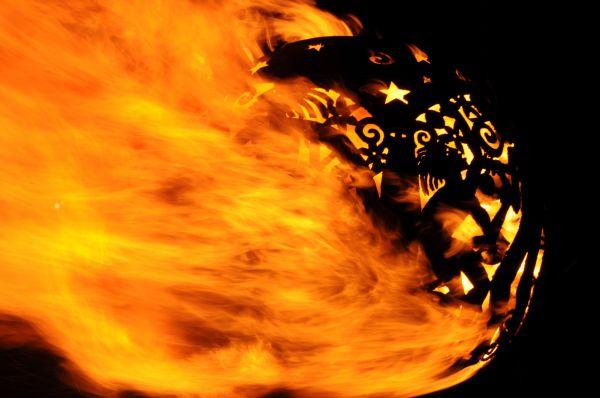 'Fireball Sculpture on Water' by