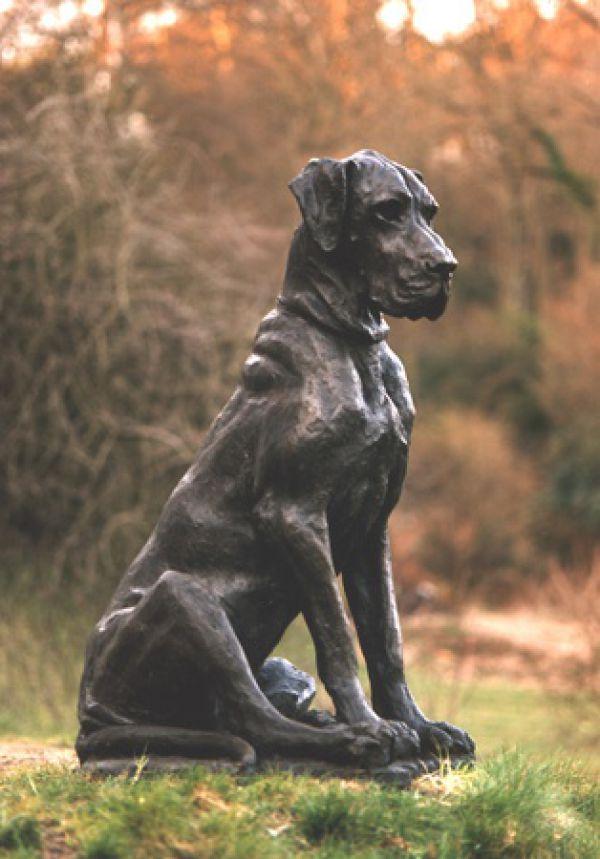 Great Dane Lifesize Bronze Dog Sculpture