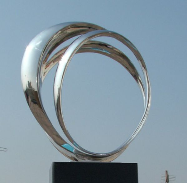 Very Large Contemporary Stainless Steel Sculpture