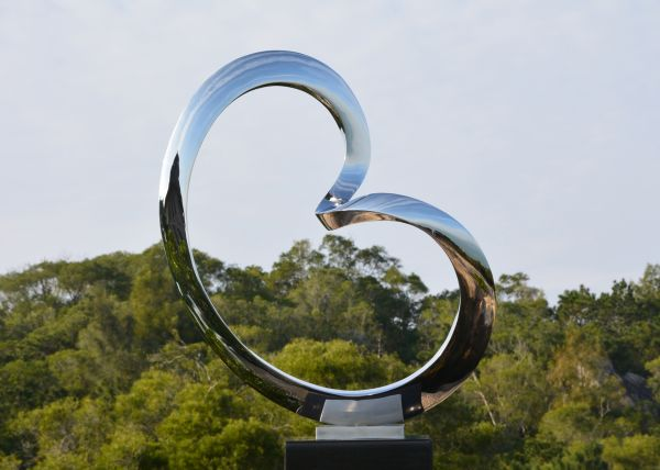 Medium/Large Contemporary Stainless Steel Sculpture